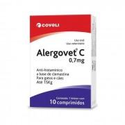 Alergovet C 0,7mg Anti-Histamínico Para Cães 10Comp.