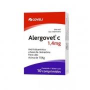 Alergovet C 1,4mg Anti-Histamínico Para Cães 10Comp.