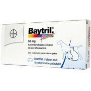 Antibiótico Baytril Flavour Cães E Gatos 50mg Bayer