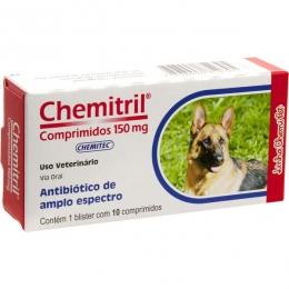 Antibiótico Chemitril Chemitec 150mg 10 Comprimidos