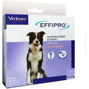 Antipulgas E Carrapatos Effipro Cães 10 A 20kg 1,34ml Virbac