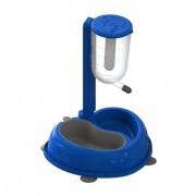 Bebedouro Duplo Médio Anti-formiga MMA Pet Azul