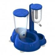 Bebedouro Luxo Anti-formiga MMA Pet Azul