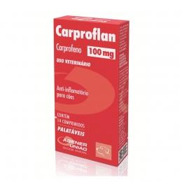 Carproflan 100mg Anti-Inflamatório Cães 14 Comprimidos