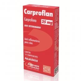 Carproflan 25mg Anti-Inflamatório Cães 14 Comprimidos