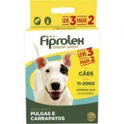 Combo Fiprolex Antipulgas Cães 11 A 20kg - Ceva