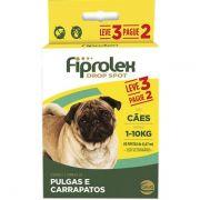 Combo Fiprolex Antipulgas Cães 1 A 10kg - Ceva