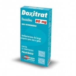 Doxitrat 80mg Antibacteriano Agener União 12 Comprimidos