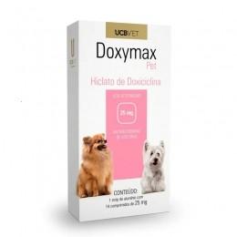Doxymax Hiclato de Doxiciclina 25mg 14 Comp Para Cães