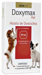 Doxymax Hiclato de Doxiciclina 50mg 14 Comp Para Cães