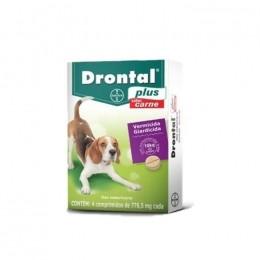 Drontal Plus Cães De 10kg Carne - 4 Comprimidos