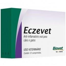 Eczevet Anti-Inflamatório Para Cães e Gatos Biovet 12comp.