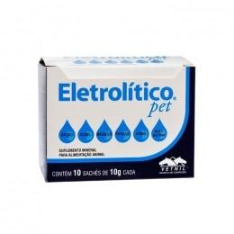 Eletrolítico Pet Suplemento Mineral 10 Sachês de 10g Cada