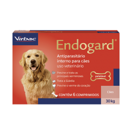 Endogard Para Cães 30kg C/ 6 Comprimidos