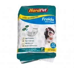 Fralda Higiênica Hard Pet Para Cães Machos 12 Unidades - Tamanho P