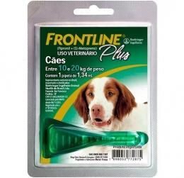 Frontline Plus Antipulgas e Carrapatos Cães 10 a 20kg