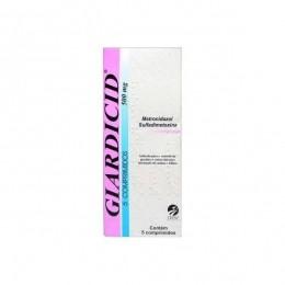 Giardicid 500mg - 5 Comprimidos Antibiótico P/ Cães E Gatos
