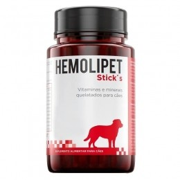 Hemolipet Sticks Suplemento Alimentar Para Cães 70g