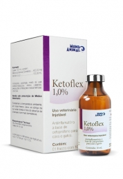 Ketoflex 1,0% Injetável Mundo Animal 10ml