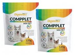 Kit 2 Compplet Mix Pet A-Z Organnact 60 Tabs 120g