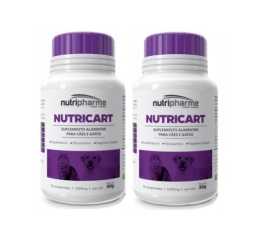 Kit 2 Nutricart 1000 Suplemento Alimentar 30 Comprimidos