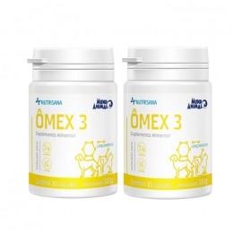 Kit 2 Ômex 3 Suplemento Alimentar Nutrisana 30 Comprimidos