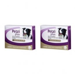 Kit 2 Petzi Plus Vermífugo 4 Comprimidos Cães 10 Kg