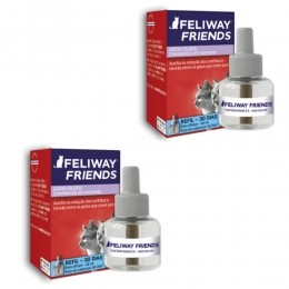Kit 2 Refil 48ml Feliway Friends Conflitos Entre Gatos
