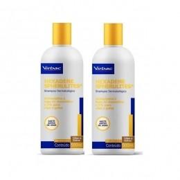 Kit 2 Shampoo Virbac Hexadene Spherulites Para Cães Gatos 500ml
