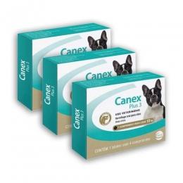 Kit 3 Canex Plus 3 Vermífugo 4 Comprimidos Ceva