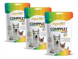 Kit 3 Compplet Mix Pet A-Z Suplemento Organnact 120g