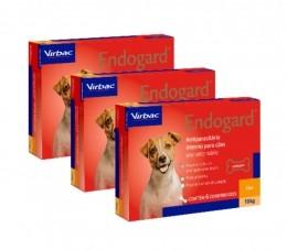 Kit 3 Endogard 10kg C/ 6 Comprimidos Para Cães
