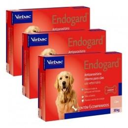 Kit 3 Endogard 30kg C/ 6 Comprimidos Para Cães