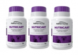 Kit 3 Nutricart 1000 Suplemento Alimentar 30 Comprimidos