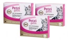 Kit 3 Petzi Gatos Vermífugo 4 Comprimidos Ceva