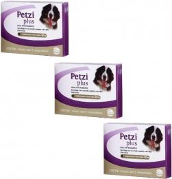Kit 3 Petzi Plus Vermífugo 2 Comprimidos Cães 40 Kg