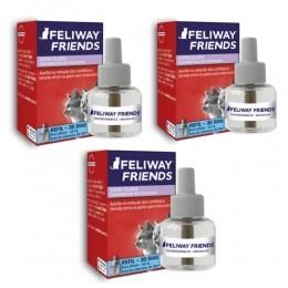 Kit 3 Refil 48ml Feliway Friends Conflitos Entre Gatos