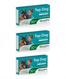 kit 3 Vermifugo Ouro Fino Top Dog 30kg Caixa 2 Comprimidos