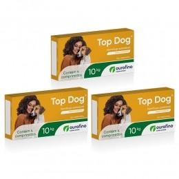 Kit 3 Vermífugo Top Dog Ourofino Cães Até 10 Kg Com 4 Comprimidos