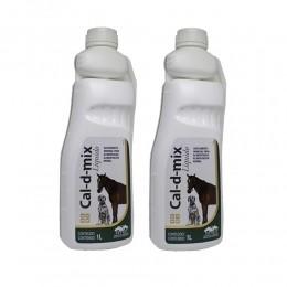 Kit 2 Cal-d-mix Liquido Suplemento Mineral Vetnil 1L