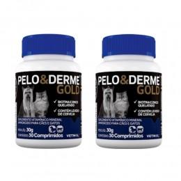 Kit c/ 2 Pelo E Derme Gold 30 Comprimidos
