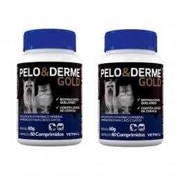 Kit c/ 2 Pelo E Derme Gold 60 Comprimidos