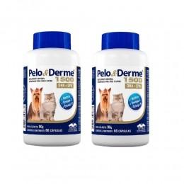 Kit 2 Pelo E Derme Para Cães E Gatos 1500mg Dha+epa 60 Cápsulas.