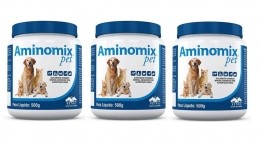Kit 3 Aminomix Pet 500g Vetnil Suplemento