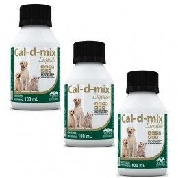 Kit 3 Cal-d-mix 100 Ml Pet- Vetnil