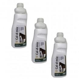 Kit 3 Cal-d-mix Liquido Suplemento Mineral Vetnil 1L