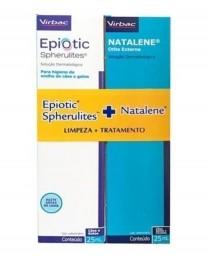 Kit Epiotic + Natalene (limpeza+tratamento) - Virbac