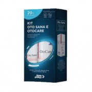 Kit Otosana 20ml + Otocare 100ml Higiene Otológica Cães Gatos
