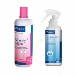Kit Shampoo Allermyl Glyco 500 ml + Humilac Spray Virbac 250 ml