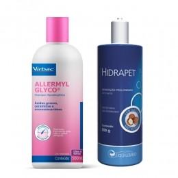 Kit Shampoo Allermyl Glyco 500ml + Hidrapet Creme 500g